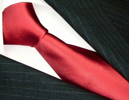 84510 Festive Luxury Italian 100/% Pure Silk Tie Red Lightcoral Plain LORENZO CANA