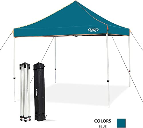 unp Pop up Canopy Tent Straight Leg Universal Instant Gazebo Waterproof Sun Shelter