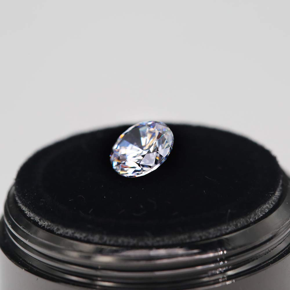 Top Grade Loose Round Brilliant Cut White Lab Created Moissanite Stone Colorless D Color 4.0mm