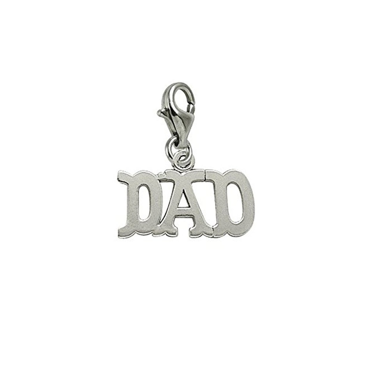 Charms for Bracelets and Necklaces Dad Charm With Lobster Claw Clasp