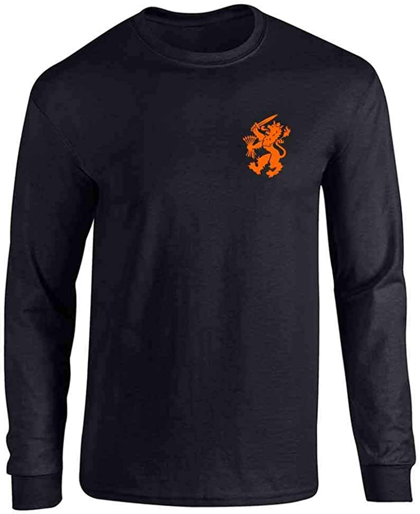 Dutch Soccer Retro National Team Holland Costume Full Long Sleeve Tee T-Shirt