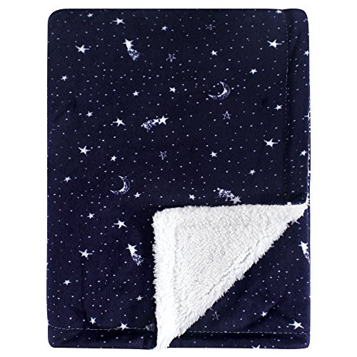 Yoga Sprout Mink Blanket with Sherpa Backing, Moon, One -