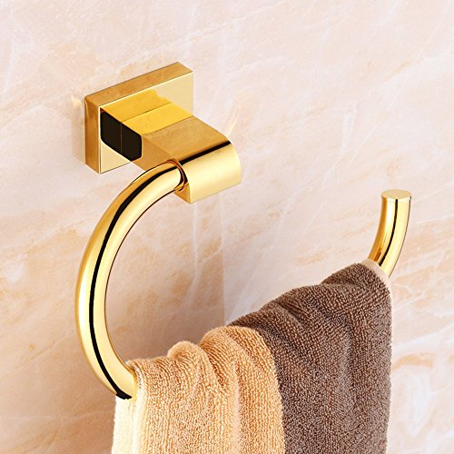 DIDIDD All Copper Gold Bathroom Towel Rack Towel Ring European Toilet Rack by DIDIDD