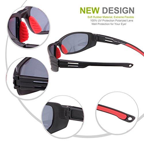 ... Duco New Design Lunettes de soleil polarisées flottantes pour la pêche  la navigation de plaisance et ... b4357f6bd844