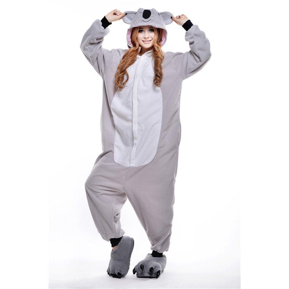 LSERVER-Pijama de Mujeres y Hombres Cosplay conjunto Diseño de Dibujos Animados Gris koala XL: Amazon.es: Juguetes y juegos