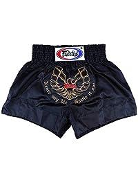 Fairtex Phoenix pantalones cortos de muay thai, color negro