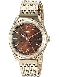 Citizen Womens FE6083-56X Drive Analog Display Japanese Quartz Rose Gold Watch
