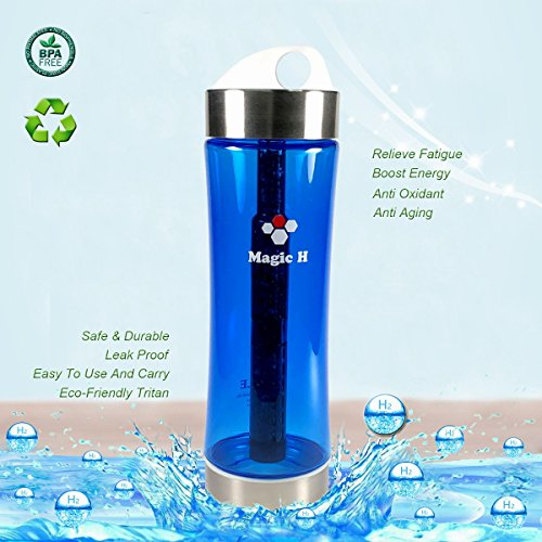 Portable Healthy Water Bottle Mineral Filter Water Bottle Purifier Provide Hydrogen Alkaline Water Anti Aging, Leak Proof, BPA Free, Eco-Friendly Tritan Plastic ,No Electricity by PLE