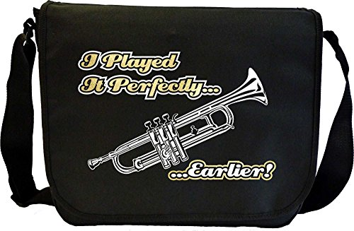 Trumpet Played Perfectly Earlier - Musik Noten Tasche Sheet Music Document Bag MusicaliTee SlwQjN