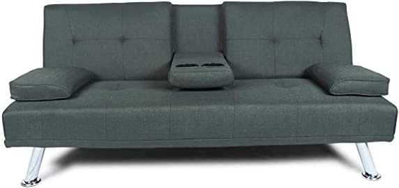 AUKUYEE FUTON Bed-Dark Grey Sofa