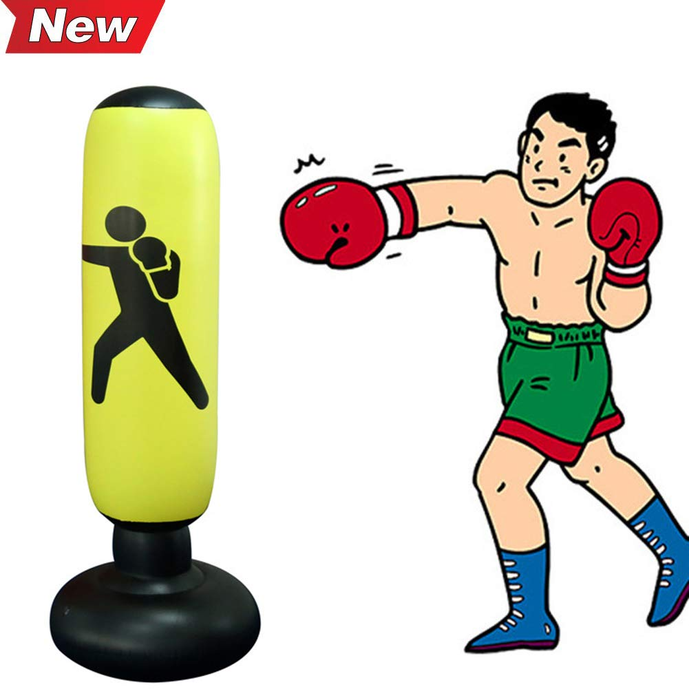 MEETWAY Inflatable Punching Bag for Kids Teens Adults Free-Standing Fitness Punching Bag Sandbags Boxing Target Bag (160cm/63inch) by MEETWAY