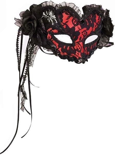 Red Barbed Wire Bandana Brown Hair Realistic Stylish Halloween Prank Costume