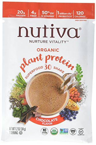 Bio-Pflanzenprotein, Schoko-Geschmack, 10 Pakete, 1,2 Unzen (34 g) Jeder - Nutiva