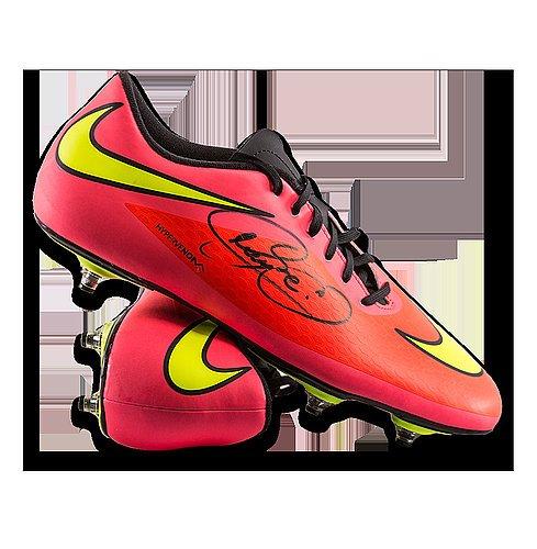 Neymar Jr Autographed Peach Nike Hypervenom Phantom Boot - ICONS (Phantom Icon)