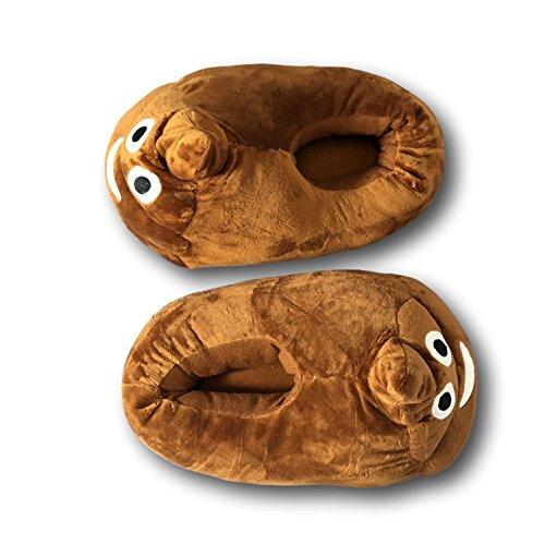 EKNA Emoji Zapatillas, talla 35–43Unisex, diseño selección kacki/kackh aufen; Smiley Pájaros y beso Kacki