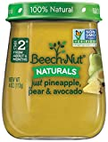 Beech-Nut Stage 2 Baby Food, Just Pineapple/Pear/Avocado, 4.0 Ounce (Pack of 10)