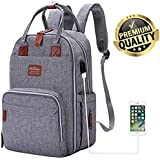 Diaper Bag Backpack, Multifunction Travel Back Pack Maternity Baby Nappy Changing Bags, Large Capacity, Waterproof and Stylish - by Mastery Baby