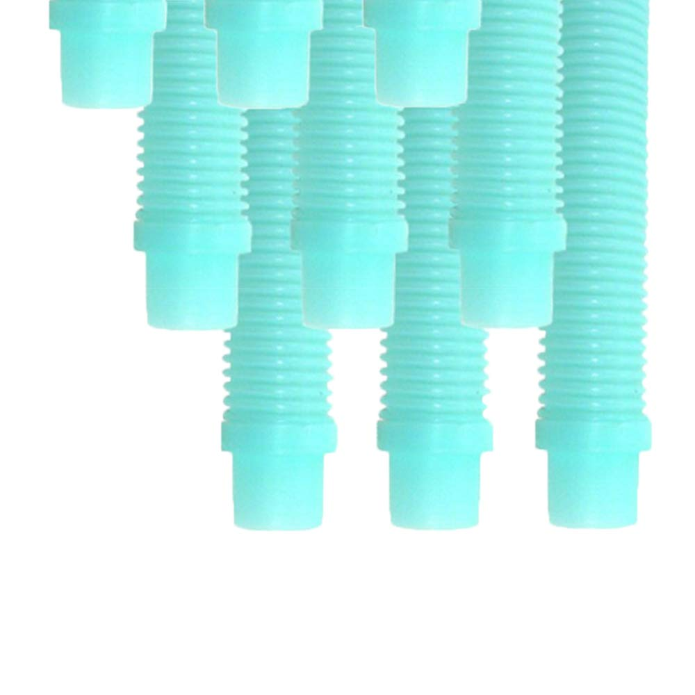 Puri Tech 9 Pack Universal Pool Cleaner Suction Hose 48'' Inches Long Aqua Color for Kreepy Krauly, Baracuda G3/G4, Navigator, More Universal Fit 4' Feet Long by Puri Tech