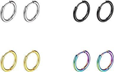 Jewels By Lux 14K Rose Gold 10 mm Pair Polished Endless Hoop Earrings