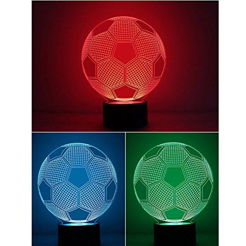 Illusion 3D Deco Licht Fußball-LED Lampen-Nachtlicht