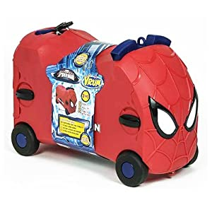 MARVEL SPIDERMAN VRUM RIDE ON TOY KIDS SUITCASE TROLLEY GIFT CASE ...