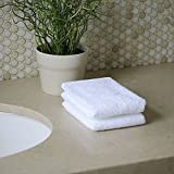 Bath Linens for Home, Office, and Gifts. Hotel Collection 100% USA Made Organic Cotton 2-Piece Wash Cloth Set - White - 13''X13'' Super Absorbent