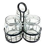Mason Jar Cutlery Caddy - 4 Piece Set - Meranda