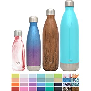 Simple Modern 17oz Wave Water Bottle - Vacuum Insulated Double Wall 18/8 Stainless Steel Hydro Swell Flask - Fusion Collection - Glacier Rain