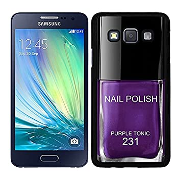 Funda carcasa para Samsung Galaxy Alpha diseño pintauñas estamalte de uñasmorado