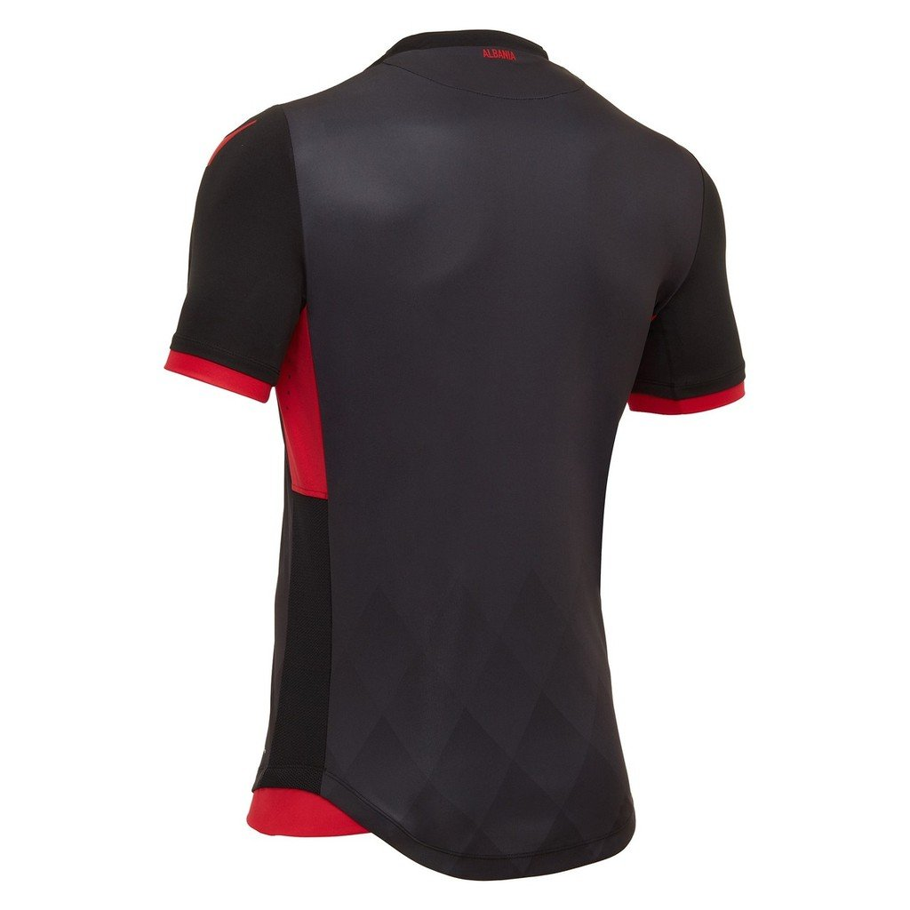 1c7e2e1fc 2017 2018 Albania National Football Team The Third Away Football Soccer  Jersey New Season Sportwear Kit In Black  Amazon.co.uk  Sports   Outdoors