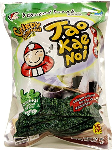 Tao Kae Noi Hi Crispy Seaweed Original Flavor, 1.41oz x 6packs