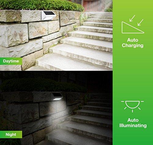 Avantek Lampe Led Solaire Eclairage Exterieur Etanche Avec Detecteur De Mouvement Sans Fil Pour Escaliers Chemins Terrasse Patio Allee Et Garage