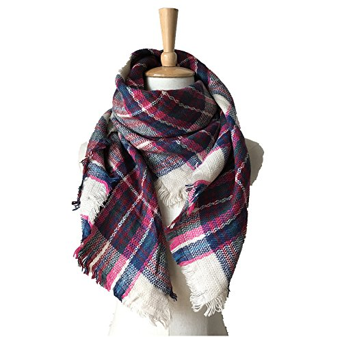 Girl Scarfs Warm Shawls Large Scarves Parent-child Scarf Child Plaid Scarfs Over Scarf