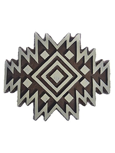 Plaid Fabric Creations Block Printing Stamps medium Aztec Tile each [PACK OF 4 ] by Plaid
