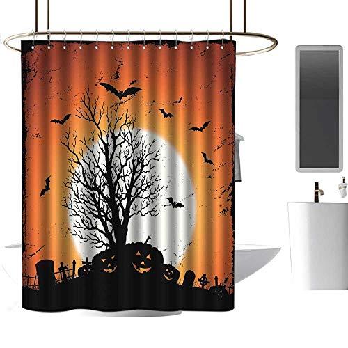 homehot Shower Curtains for Bathroom Animation Vintage Halloween,Grunge