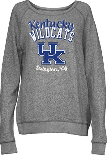 (Three Square by Royce Apparel NCAA Kentucky Wildcats Junior's Blythe Knobi Crew Fleece, X-Large, Heather Grey)