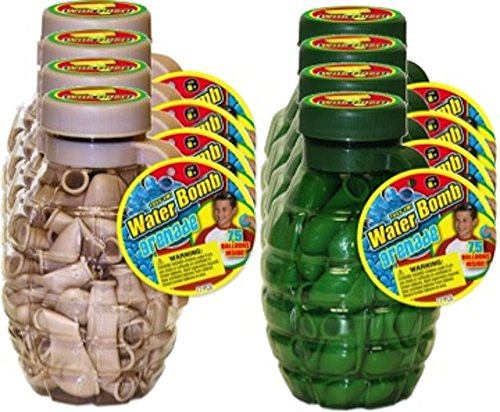 JA-RU Waterbomb Balloon Grenade (Party Favor Bundle Pack of 8)