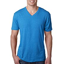 6040 Next LeV neck T-Shirtel Mens Tri-Blend V neck T-Shirt - V neck T-Shirtintage Turquoise - 2XL by Next Level Apparel