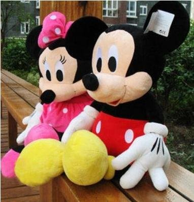 45cm 2pcs/lot mickey mouse baby soft smurfs doll plush stuffed animals toys by guangdong