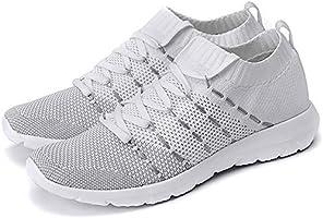PresaNew Women's Walking Shoes Slip On Athletic Running Sneakers Knit Mesh Comfortable Work Shoe