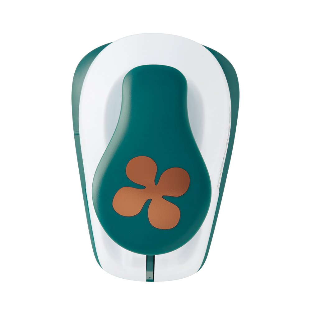 Fiskars 126770-1001 Lia Griffith Lever Punch, Hydrangea, Teal Green/White