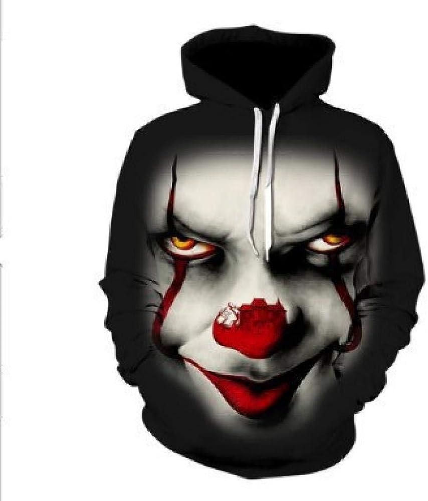 tangximing Unisex Hoodie Clown Mit Großer Roter Nase 3D