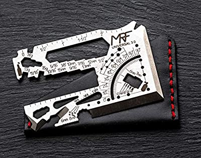 MRF MULTITOOLS Credit Card Multitool 60+Tools in One Universal 3.0 Toolcard with Leather Case