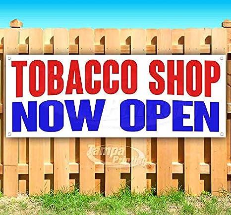 Amazon com : Tobacco Shop Now Open 13 oz Heavy Duty Vinyl