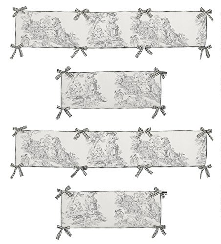 - Sweet Jojo Designs Black French Toile Collection Crib Bumper