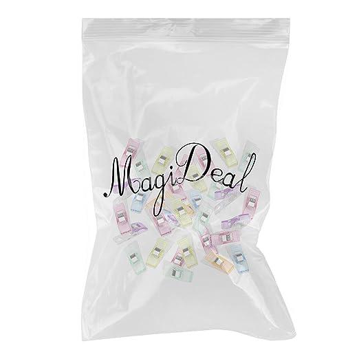 50pcs Clips Abrazaderas Plástico Colcha Costura Colcha Surtido: Amazon.es: Oficina y papelería