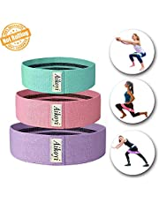 Aikoyi Resistance Bands, Resistance Bands for Legs and Butt Non-Slip Exercise Bands for Squats, Legs, Butt, Thigh and Hip Workout, 3 Resistance Level Elastic Exercise Band Workout Band for Men & Women