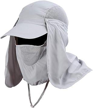 Gorra de Protección Solar Anti-UV, Sombrero Pesca del Sol Gorra al ...