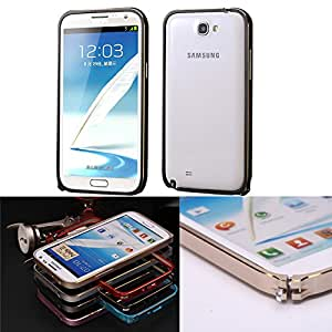 Pioneer Tech Luxury Ultrathin Aluminum Gold line Bumper Case cover For Samsung Galaxy Note2 N7100 -XNR (gold&black)