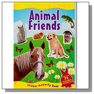 Animal World Sticker Activity Book (With Over 70 Reusable Stickers!) Assorted, Titles Vary) Animal Friends, In the Wild, Insects & Bugs, or Ocean Adventures